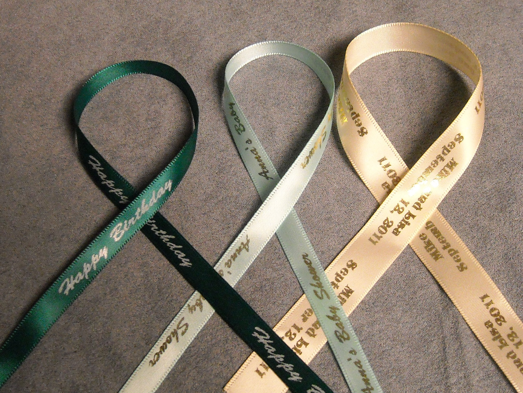 Personalized Ribbon - Wedding Favours Canada, Wedding Favours